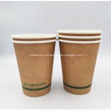 Vaso de papel desechable compostable PLA de la más alta calidad, 16 oz