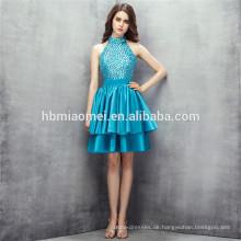 2017 heißer Verkauf neue Mode grüne Farbe schwere Perlen Halfter Design Brautjungfer Kleid online