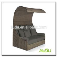 Audu Home Rattan Outdoor Luxury Daybed