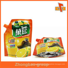 Eco friendly laminated stand up spout pouch for apple juice