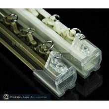 Electrophoresis Champagne Aluminum Curtain Track Profile