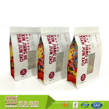 Bolso de papel modificado para requisitos particulares de Kraft de la alta comida de la alta calidad al por mayor de la fábrica con la cerradura de la cremallera