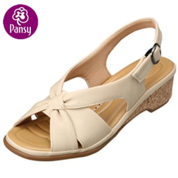 Pansy confort chaussures dos-ceinture en bois talon sandales d'été pour les dames
