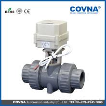 1 дюйм 2 дюйма 3 дюйма ПВХ электрический шаровой клапан цена / Моторизованный шаровой клапан dn15 dn20 dn25