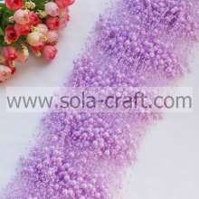 3+8MM Light Purple ABS Pearl Beaded Garland For Decoration