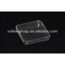Plastik Einweg Petrischale 100ml, Quadrat Petrischale, Quarz Petrischale