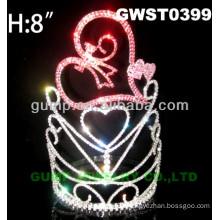 heart crystal tiara crown -GWST0399