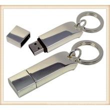 Nuevo llavero de metal Stick en forma de 4GB USB Flash Drive (ED033)
