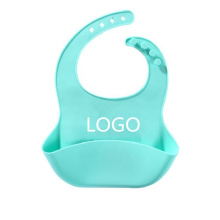 Babete de bebê OEM 100% de silicone de qualidade alimentar
