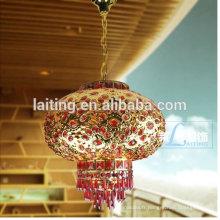 Lustre à Lanterne Traditionnelle de Style Chinois Lustre Rouge