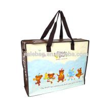 China recyclable water-proof fabric zipper tote bag / zipper bag / PP zipper bag