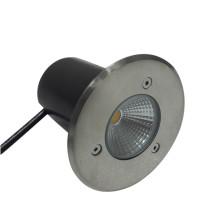 Outdooor Ground Waterproof IP67 3W RGB Blanco LED Underground Light Acero inoxidable