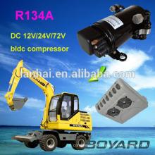 R134A boyard bldc 12 v mini air compressor for refrigerator mobile refrigeration