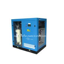 Compresor de aire lubricado por tornillo controlado por inversor estacionario (KC37-10INV)