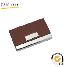 Мода PU кожаный металлический бизнес имя держателя карты