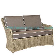 Wicker Furniture Poly Rattan Love Seat Garden Sofa