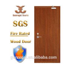 BS476 listó la puerta incombustible de madera de 0.5 horas