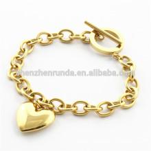 Pulsera del corazón del oro de la galjanoplastia de la joyería de la manera 18k para la joyería del acero inoxidable de las señoras China Supplier