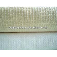 T/C 65/35 plain dyed honeycomb fabric for hotel bathrobe