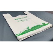 Corn starch made biodegradable plastic carry shopping bags