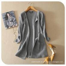 2017 neue Design Pure Cashmere Schal Strickjacke Mantel mit Rundboden und Taschen für Frauen