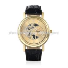 2016 Reloj barato de la correa de cuero de la vendimia del cuarzo de la nueva manera del diseño SOXY001