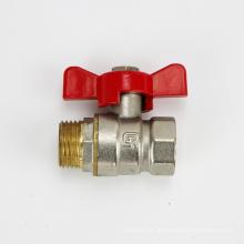 1/2 3/4 1 polegada Melhor qualidade anti-derrapante e anti-calor alça de bronze núcleo de bronze haste de água válvula de esfera de bronze com alça de borboleta