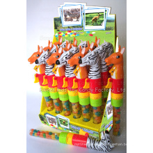 Noisy Zebra & Kangaroo Toy Candy (110705)