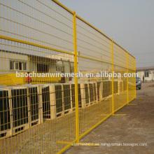 Canada estándar 60x150mm malla infill flexible soldado galvanizado construcción de paneles temporales de la cerca para Canadá