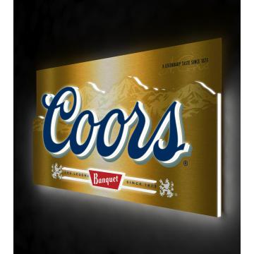 COORS metal light sign