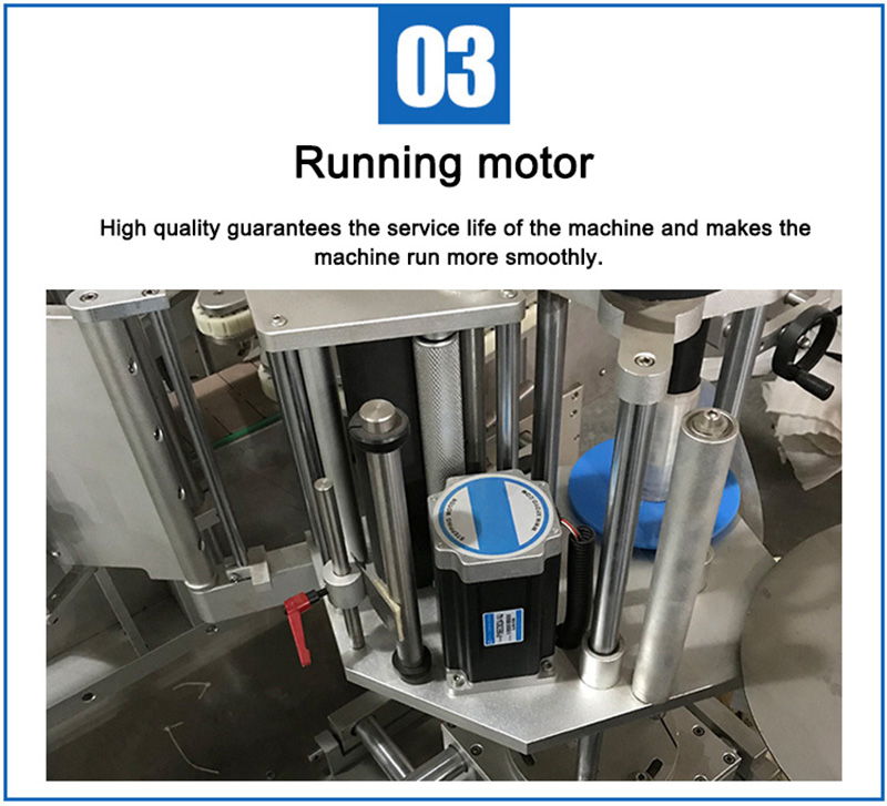 Automatic two side bottle labeling machine