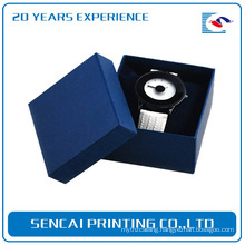 Customized professional luxury bule color jewelry watch box with pillow