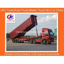 Chinese Heavy Duty 3 Axle 45 Cbm End Tipper Trailer