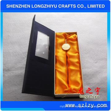 Marcadores al por mayor del metal del OEM de la aleación del cinc con oro plateado