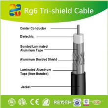 Câble coaxial PVC RG6 de 75 Ohm à chaud avec ETL CE