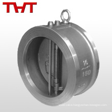 double flapper cf8 DN150 pn16 wafer check valves in stainless steel