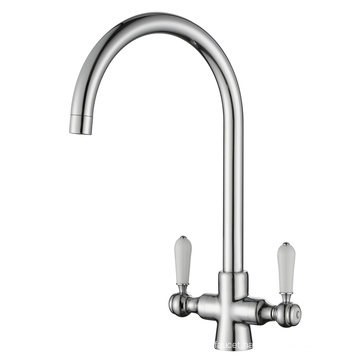 Two Ceramic Handle Kitchen Water Faucet