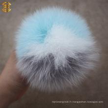 2014 Nouvelle mise à jour luxueuse naturelle ou colorée 12cm Fox Fur Pom Poms Mixed Fur Balls
