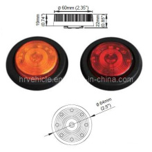 """2.5"""" Round LED Marker and Clearance Light for Trailer"""