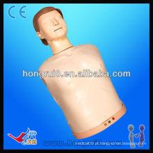 Manequim eletrônico eletrônico avançado do treinamento do CPR do meio-organismo de ISO