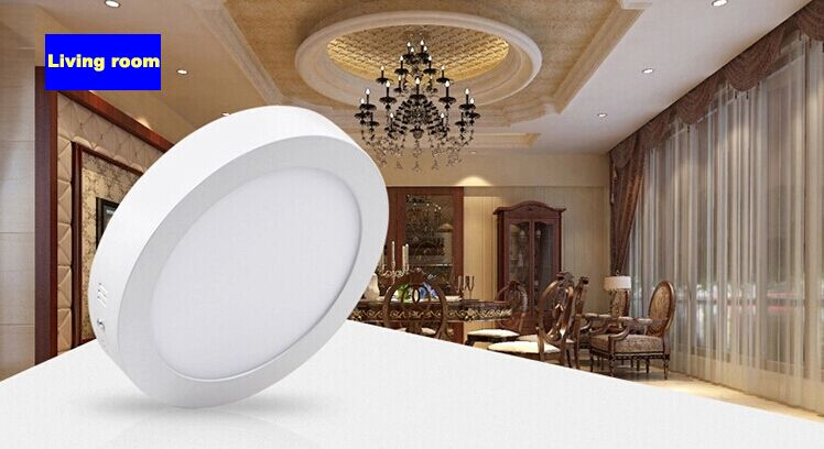 Surface mounted 12w led round panel