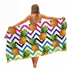 3D Printed Pineapple Pattern, Pool Beach Towel