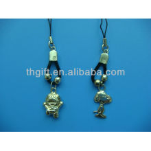 3D cartoon design metal mobile phone chain/ring with no colors
