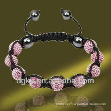 Bijoux à la mode Hip Hop Disco Ball Shamballa Bracelet
