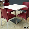 white acrylic restaurant chairs and tables for restaurant