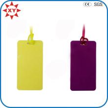 Etiqueta de equipaje de silicona de color puro personalizado