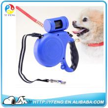 2016 laisse de chien rétractable de haute qualité avec LED clignotant