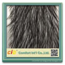 Moda de alta calidad nueva tela de lana artificial al por mayor faux fur baratos telas con poliéster acrílico
