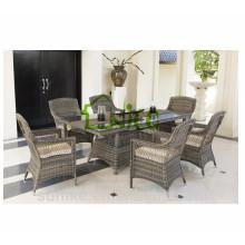 DS-(201) rattan indoor furniture modern square rattan indoor dining table