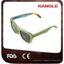 en gros multi lamination style en bois lunettes de soleil